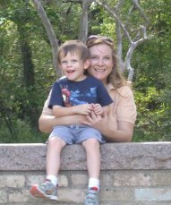 Cynthia Burrow and her son Zach smile in a photo taken at the Austin Nature Center.